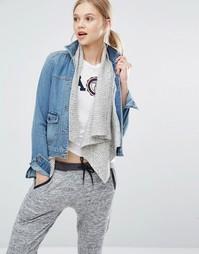 Джинсовая куртка на шерстяной подкладке Abercrombie & Fitch - Синий