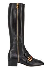 Кожаные сапоги Gucci