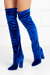 Бархатные сапоги Velvet Thigh High Aquazzura