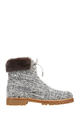 Ботинки с мехом норки Heilbrunner