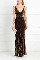 Бархатное платье Julian Gabriela Hearst
