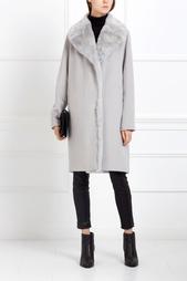 Шерстяное пальто с мехом Tegin