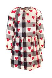 Хлопковое платье Burberry Children