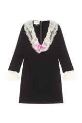 Платье с V-образным вырезом Gucci