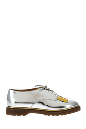 Ботинки из металлизированной кожи Stefania Charlotte Olympia