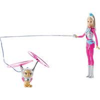 """Кукла с летающим котом Попкорном из серии """"Barbie и космические приключения"""" Mattel"""