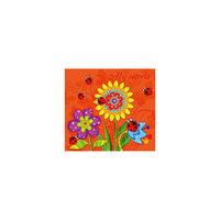 """Детский трехблочный органайзер """"Цветы на оранжевом"""" Феникс+"""