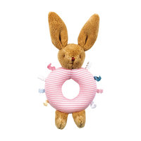 Погремушка-кольцо Зайчик, розовое, 16см, Trousselier