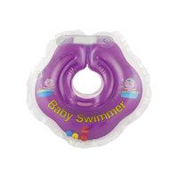Круг для купания с погремушкой внутри BabySwimmer, фиолетовый