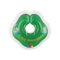 Круг для купания с погремушкой внутри BabySwimmer, зеленый