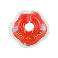 Круг для купания с погремушкой внутриBabySwimmer, красный