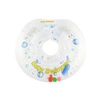 Круг для купания с погремушкой внутри ПРОЗРАЧНАЯ КАПЕЛЬКА BabySwimmer, прозрачный