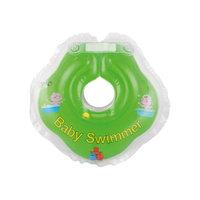Круг для купания с погремушкой внутри BabySwimmer, салатовый