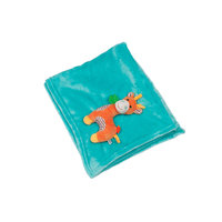 Одеяло с игрушкой Жираф, Zoocchini, аква