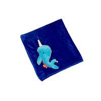Одеяло с игрушкой Кит, Zoocchini, синий