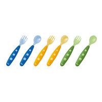 Мини столовый прибор пластиковый Easy Learning 2 предмета с 8 мес, NUK