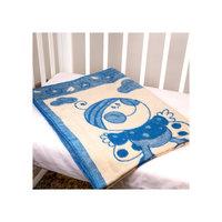 Одеяло байковое Букашки, 100х140, Baby Nice, голубой