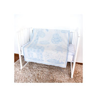 Одеяло байковое Жираф, 100х140, Baby Nice, голубой