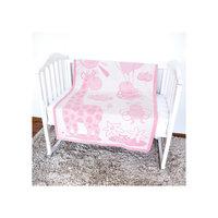 Одеяло байковое Жираф, 100х140, Baby Nice, розовый