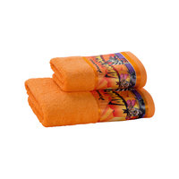 Полотенце махровое Мадагаскар 50*90, Непоседа, оранжевый