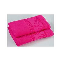 Комплект из 3 махровых полотенец Tulips, Португалия, ярко-розовый