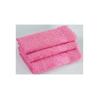Комплект из 3 махровых полотенец Viola, Португалия, розовый