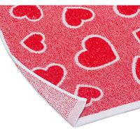 Комплект из 2-х махровых полотенец Сердечки 35*70; 60*130, Любимый дом