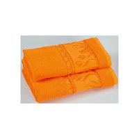 Комплект из 3 махровых полотенец Tulips, Португалия, оранжевый