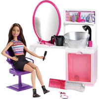 Набор для создания блестящих причесок, Barbie Mattel