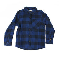 Рубашка в клетку детская Quiksilver Motherflyboy Navy Blaze