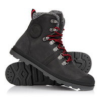 Ботинки высокие женские Palladium Pallabrouse Hikr Black/Red/Castlerock