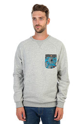 Толстовка свитшот Billabong Transmit Grey Heather
