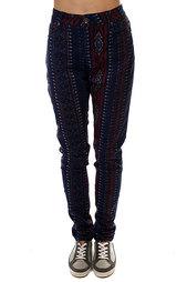 Штаны узкие женские Roxy Suntrippers Sayra Blue Print
