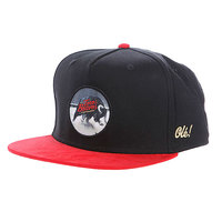 Бейсболка K1X Straight Up Snapback Cap Black/Red