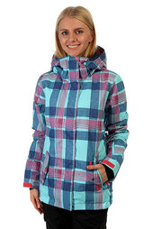 Куртка женская Roxy Rx Jetty Daya Plaid Blue Radi