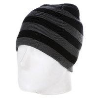 Шапка Urban Classics 2 Stripe Beanie Black/Elephant