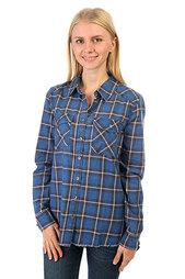 Рубашка в клетку женская Billabong Flannel Frenzy Sapphire Blue
