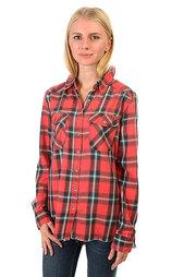 Рубашка в клетку женская Billabong Flannel Frenzy Rad Red