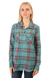 Рубашка в клетку женская Billabong Flannel Frenzy Emerald Bay