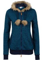 Вязаная флисовая куртка (шиферно-серый меланж) Bonprix