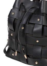 Плетеная сумка-мешок (черный) Bonprix