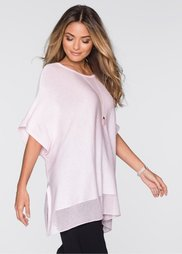 Пуловер в стиле пончо (розовый кварц) Bonprix