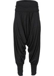 Трикотажные брюки с принтом (серый меланж с принтом) Bonprix