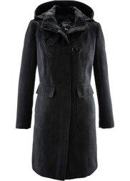 Пальто с капюшоном (светло-серый меланж) Bonprix