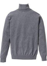 Пуловер Regular Fit с высоким воротником (темно-синий) Bonprix