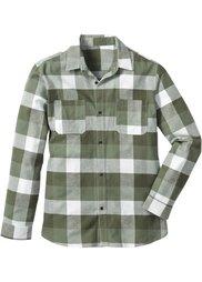 Фланелевая рубашка Regular Fit с длинным рукавом (индиго в клетку) Bonprix
