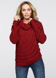Пуловер (красный) Bonprix