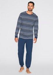 Пижама (темно-синий в полоску) Bonprix