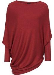Пуловер в стиле оверсайз с асимметричным низом (черный) Bonprix