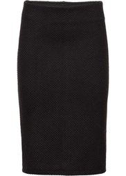 Жаккардовая юбка-стретч (кремовый/черный) Bonprix